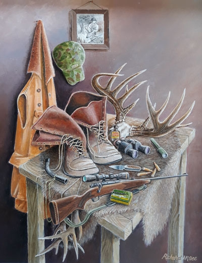 Deer Hunting Still Life